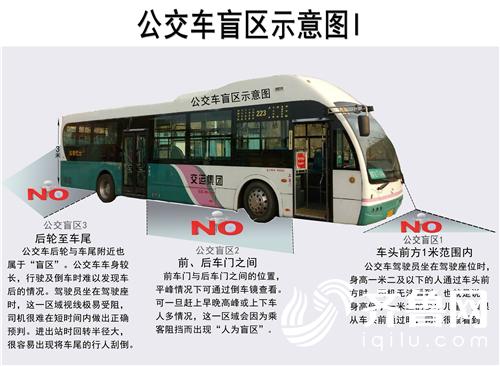 """青岛一司机绘""""最全车辆盲区图"""" 行人与车体保持多远才安全"""