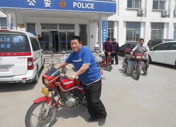 临沂兰山男子专在医院门口偷车 10余车辆被警方追回
