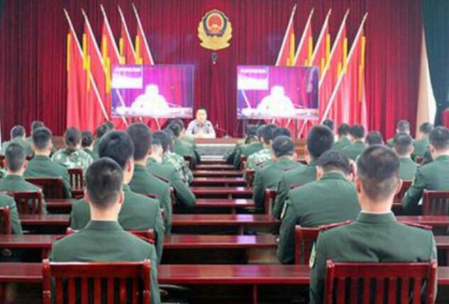武警枣庄支队开展反邪教专题警示教育