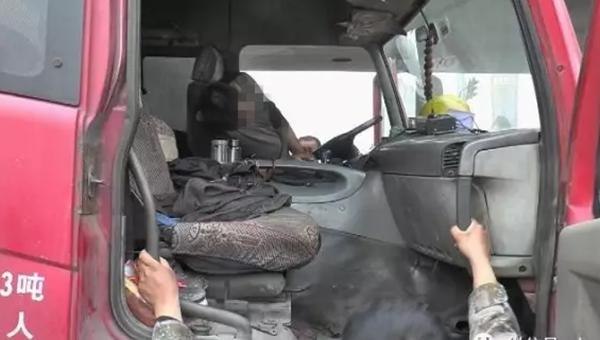 73秒|大货车司机济南等信号灯时猝死 手里还拿着半个烟头