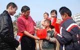 高唐:志愿者返乡做公益 情系桑梓捐资助学