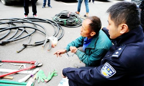 潍坊:无业男子盗割电缆90米判刑三年