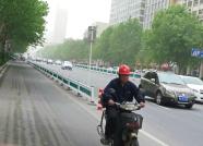潍坊遭遇大风扬尘天气 大树被拦腰刮断