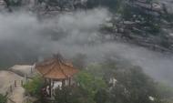 5分钟航拍青岛崂山云海奇观 奇石浓雾仙气十足
