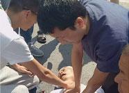 滨医附院8名护士参加婚礼途中抢救被撞老大爷