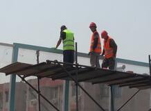 济南二环西路一期月底通车,高温下的建设者:热并快乐着