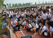百米长卷画禁毒 滨州市公安局禁毒宣传走进校园
