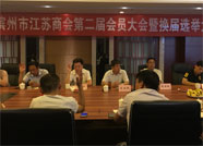 滨州市江苏商会召开第二届第一次会员大会暨换届选举大会