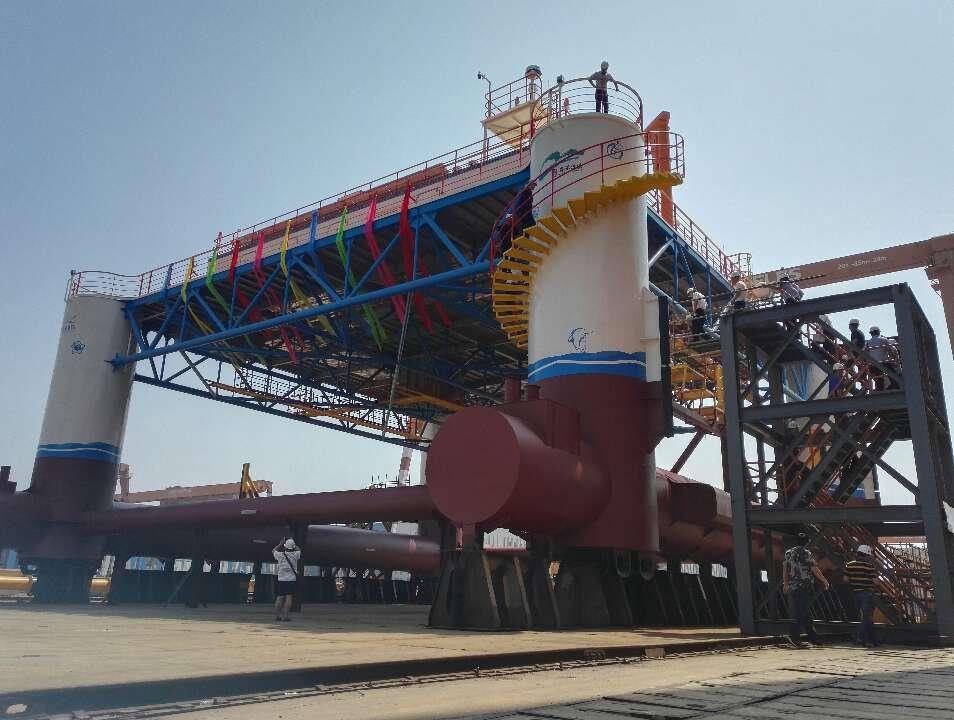 厉害了!国内首个半潜式海洋牧场平台龙口交付,可海上垂钓