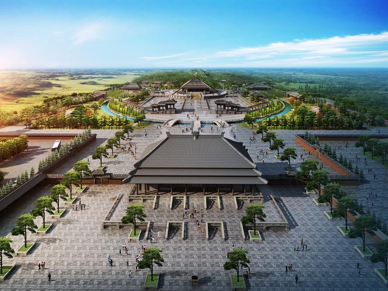投资4.29亿元的鄄城尧帝陵文化旅游风景区正式开工
