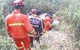 临清一男子驾驶拖拉机侧翻沟壑 消防紧急赶往现场救援