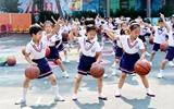 茌平:幼儿园里的篮球操(图组)