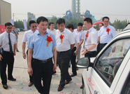 蓝时滨州生产基地首辆纯电动整车在高新区正式下线