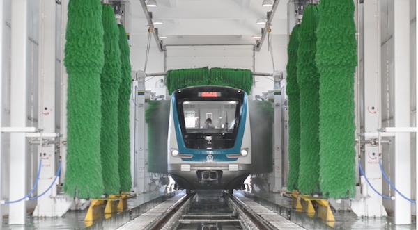 """""""洗澡水""""循环用 青岛地铁3号线上半年节水约400余吨"""
