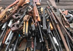 济南市公安局集中销毁非法民用枪支 抓获62名嫌疑人