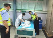 暖!泰安宁阳4岁女孩突然昏迷 交警2分钟紧急送医