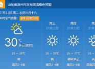 海丽气象吧丨滨州今日局部气温近40度 升级为高温橙色预警