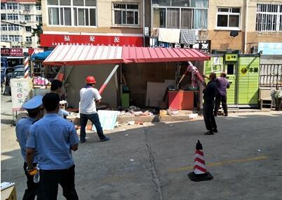 青岛金门路街道11478平拆违任务超额完成