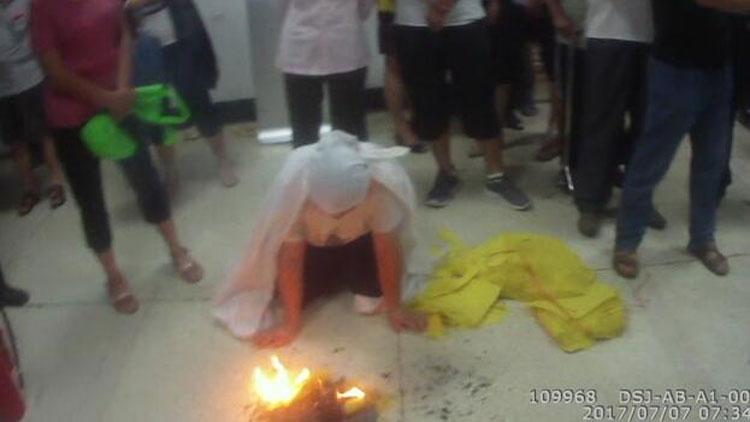 44秒丨医闹现身山东省立医院,烧纸钱散布谣言3人被惩处