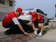 国网日照供电公司党员服务队去包联村开展志愿服务活动