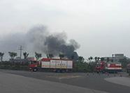 阳信县一仓储物流企业发生火灾 火势己基本得到控制