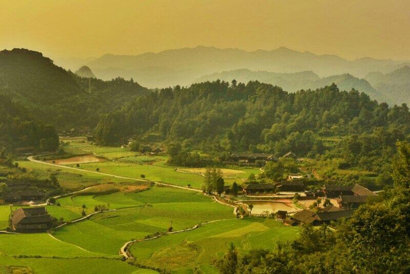 7月28日,张家界市永定区王家坪镇石堰坪村,风光优美,如诗如画.