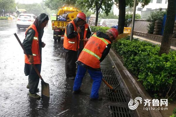 青岛市区现强降雨平均降水量47.3mm,1700余人参与应急