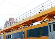 中国高铁首列检修列在山东青荣城际线路正式投入使用