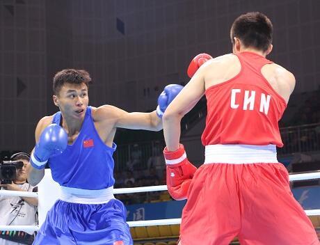 全运会拳击决赛 山东选手暂获1银1铜