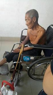 惠民骨折老汉付不起药费无奈回家,95后女孩发起网络募捐