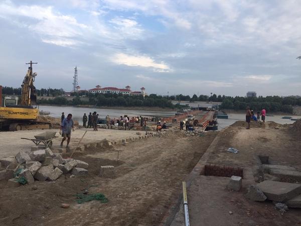 泺口黄河新浮桥将于8月16日试通行 双向四车道