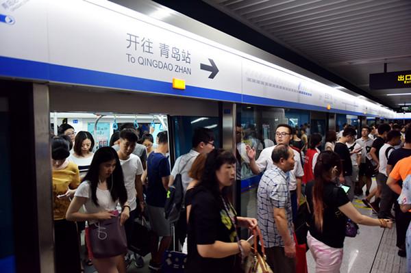 青岛地铁3号线总客流突破4000万列车正点率99.95%