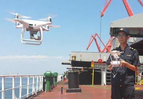 山东口岸水尺鉴定首次引进无人机技术 观测时间缩至20分钟