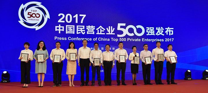 菏泽3家企业入围2017中国民企500强
