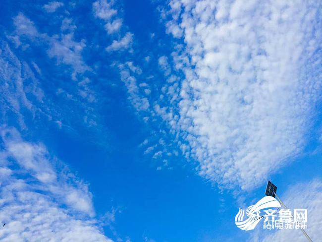 济南心形云PK泰安逆天屏保 山东多地蓝天