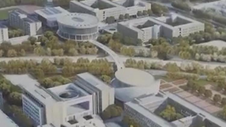 探营济南历城二中新校区 主体已封顶进入装饰阶段