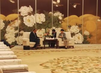 王随莲会见捷克客人