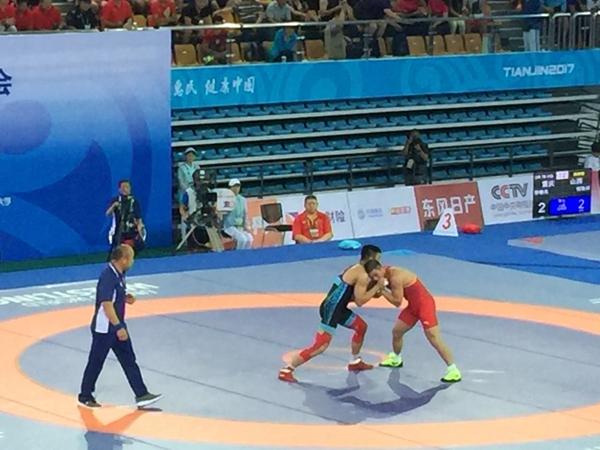 枣庄籍摔跤选手杨斌夺得全运会古典式摔跤75公斤级冠军