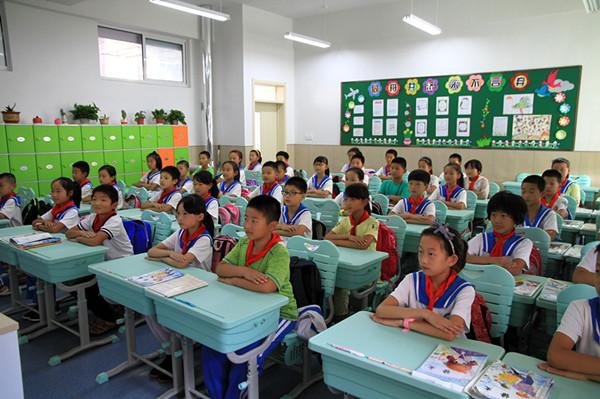 青岛灵山湾影视文化产业区朝阳小学正式启用 突出影视教育特色