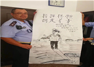 烟台一交警中学门口保驾护航9年 家长手绘萌漫画相赠