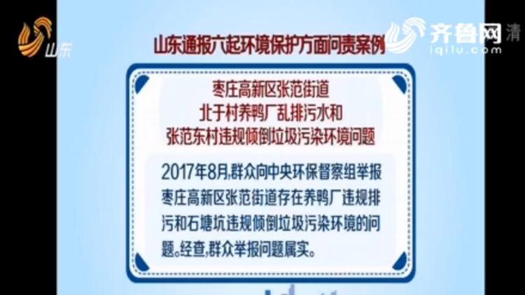 山东省通报6起环境保护方面问责案例