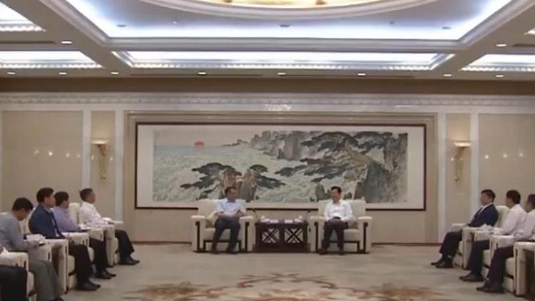 山东省委常委、常务副省长李群会见海北洲客人