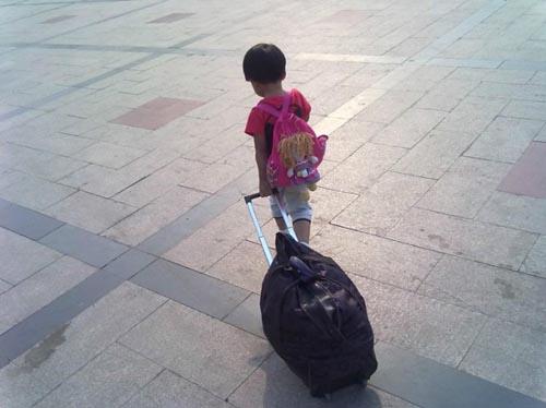 莘县12岁男孩离家出走急坏父母 在北京站被民警找到