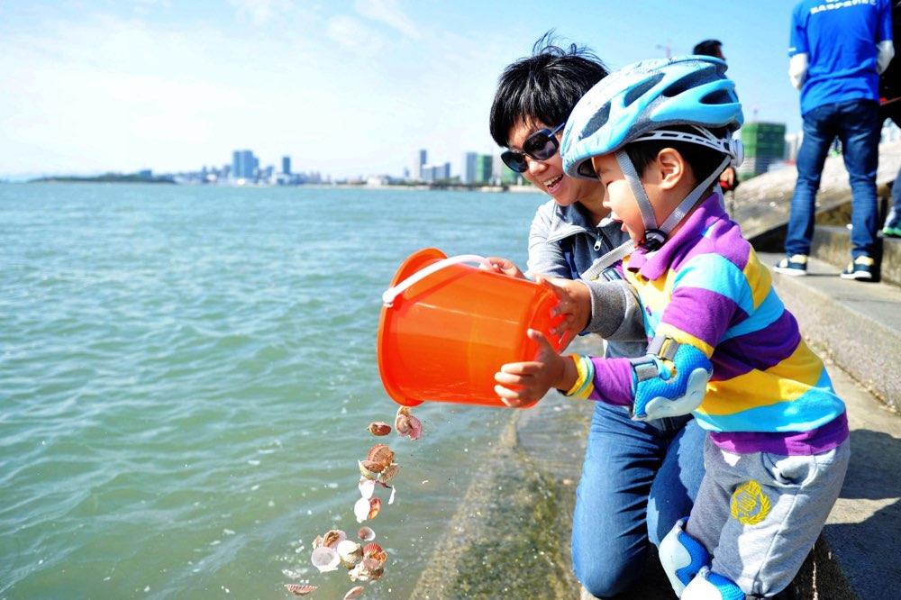"""""""保护海洋 让贝壳回家""""大型公益活动在青岛西海岸正式启动"""