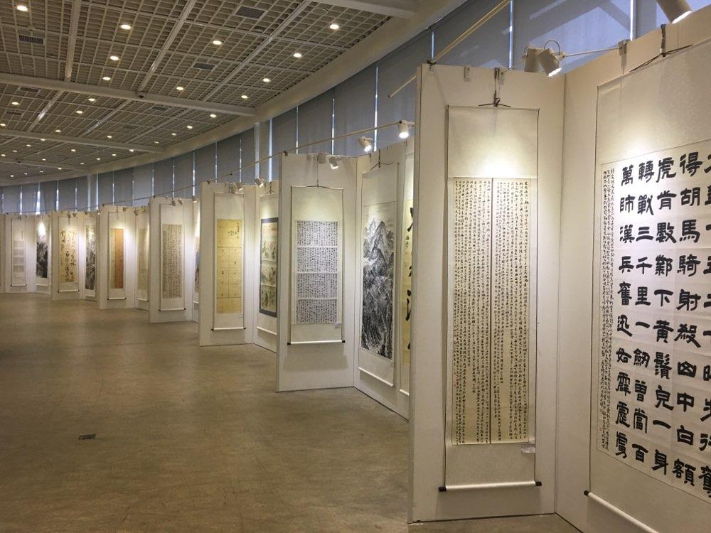 山东民营企业家喜迎十九大书画作品展举行