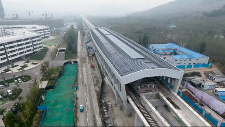 106秒丨济南R1线地铁前大彦站完成封顶,2019年安装调试