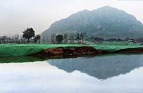 济南华山湖正式开挖 注水后形成200亩湖域