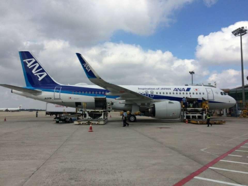 空客320NEO机型首飞青岛 机场全力保障