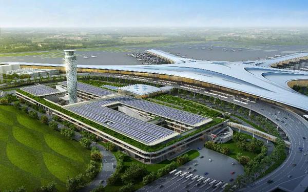 青岛新机场高地铁站房封顶!将实现全通型零换乘