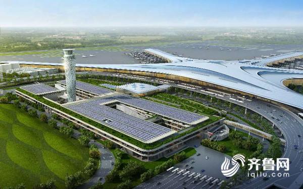地铁站立体绿化-青岛新机场高地铁站房封顶 将实现全通型零换乘